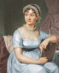 A colorized version of Jane Austen (Source: Wikimedia Commons)