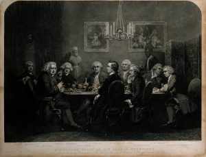 A gathering at Joshua Reynolds's house (Source: Wellcome Library, London Creative Commons license CC BY 4.0)