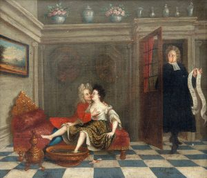 A secret moment, c. 18th or 19th century (Source: Wikimedia Commons)