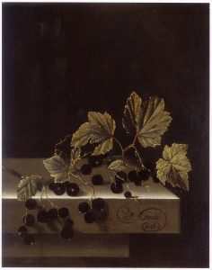 Black currants by Adriaen Coorte, 1698 (Source: Wikimedia Commons [PD-1923])