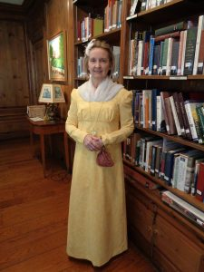I'm wearing my homemade Regency gown (© 2016 D.H. Morris)