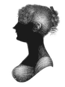 Cassandra Austen's Silhouette (Source: Wikimedia Commons)