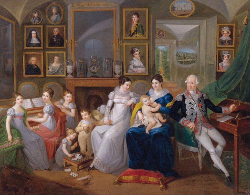 Family portrait of Gabriel Joseph de Froment, Baron de Castille
