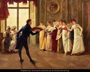 Fan Flirtation by Henry Gillard Glindoni (Source: wikigallery.org)