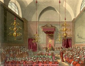 House of Lords, 1809 (Source: Wikimedia Commons)