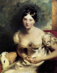 Maguerite,_Countess_of_Blessington by Lawrence c. 1822 (Source: Wikimedia Commons PD-1923)