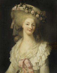 Marie Therese de Savoie, Princesse de Lamballe, painted by Louis-Edouard Rioult in 1780-1785 (Source: Wikimedia Commons)