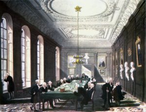 The_College_of_Physicians from The Microcosm of London, 1808 (Wikimedia Commons)