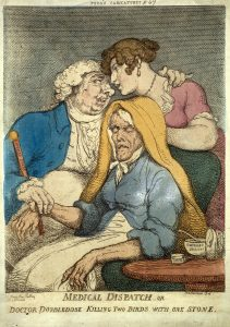 "Thomas Rowlandson's ""Medical Dispatch"", 1810. (Wellcome Collection)"