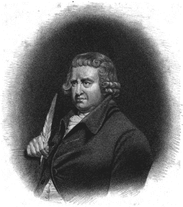 Screen shot of Erasmus Darwin from his popular book The Botanic Garden (London, 1825, PDF p. 9), downloaded from Project Gutenberg
