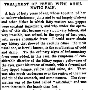 Case study for Anne de Bourgh's illness