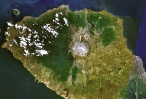 Tambora volcano on the island of Sumbawa (Source: Wikimedia Commons)