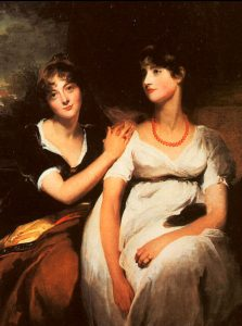 The daughters of Colonel Thomas Carteret Hardy, 1801, by Sir Thomas Lawrence (Source: www.thomas-lawrence.org)