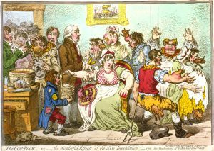 The cow pock by James Gillray, 1802 (Wikimedia Commons)