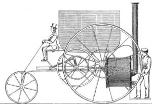 Trevithick's London steam carriage (Source: Wikimedia Commons)