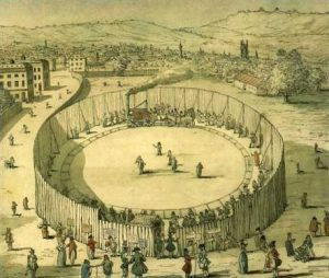 Trevithick's steam circus (Source: Wikimedia Commons)