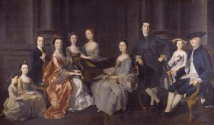 Portrait of Sir Wolstan Dixie, 4th Baronet, and Family
